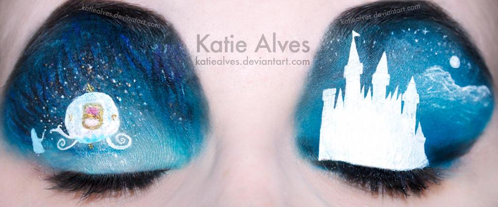 Cinderella Makeup Eyes by KatieAlves