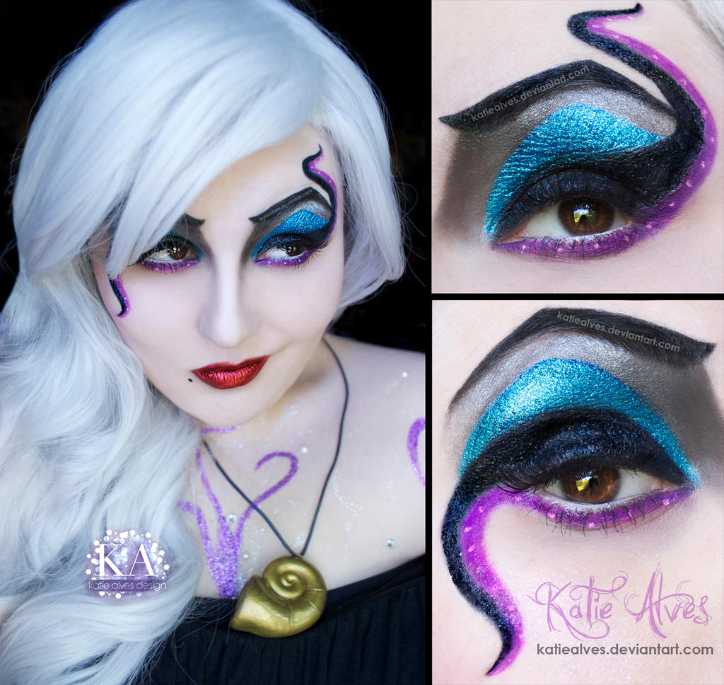 Ursula Cosplay Makeup by KatieAlves