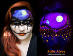 Dripping with Halloween - Black Light Makeup