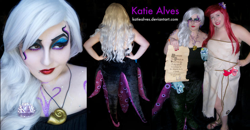 Ursula Cosplay with Makeup Tutorial by KatieAlves
