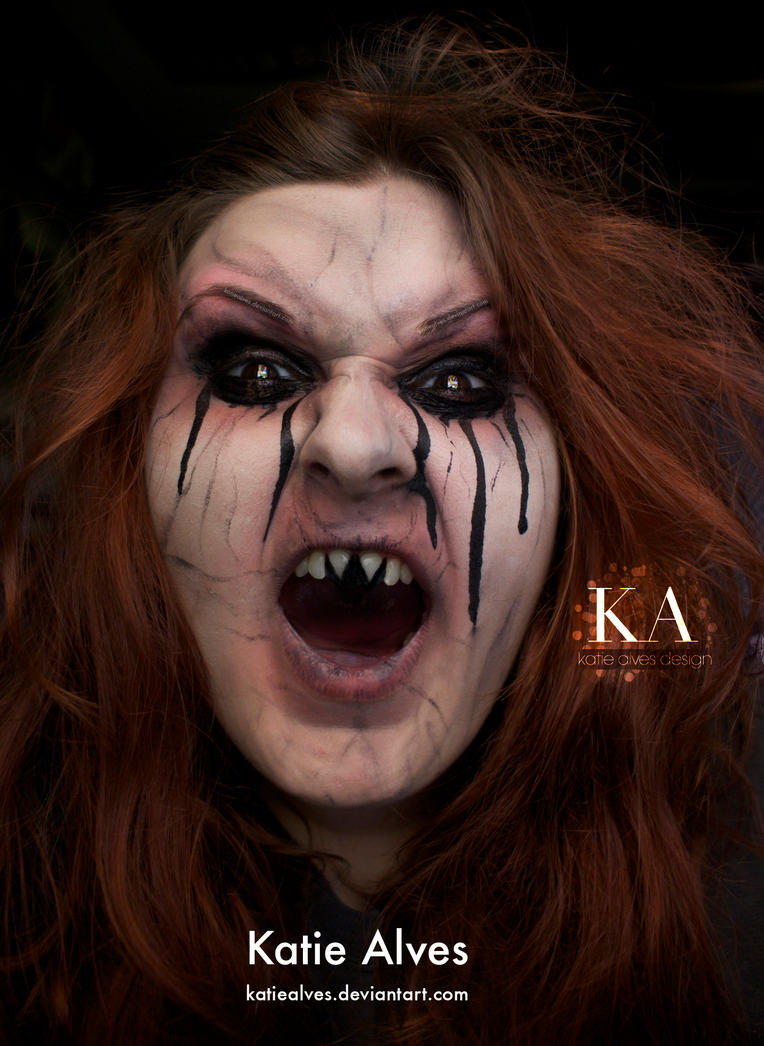 evil witch halloween makeup with tutorial by katiealves