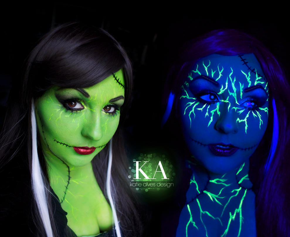 The Bride of Frankenstein - Black Light Makeup by KatieAlves