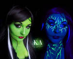 The Bride of Frankenstein - Black Light Makeup