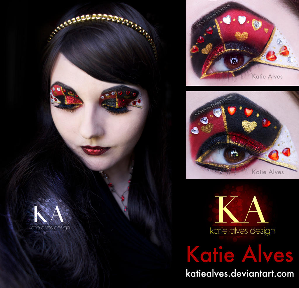 Queen of Hearts FULL FACE small by KatieAlves