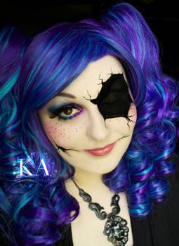 Broken Doll Halloween Makeup with Tutorial