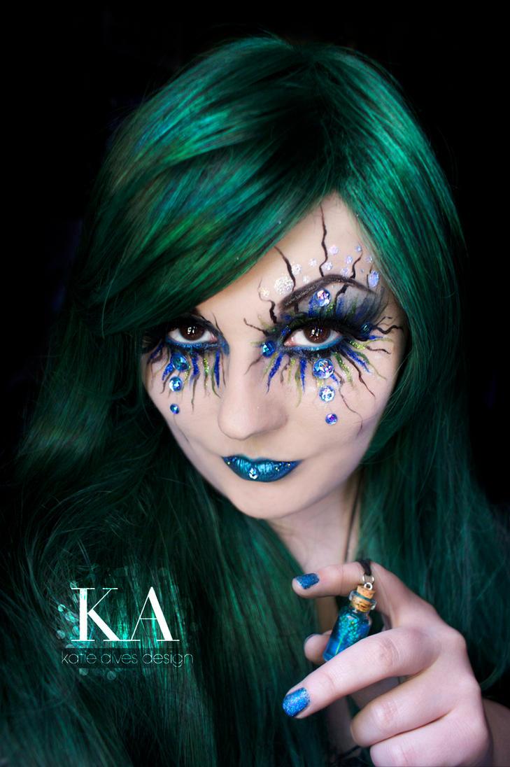Siren / Evil Mermaid Makeup (with tutorial) by KatieAlves