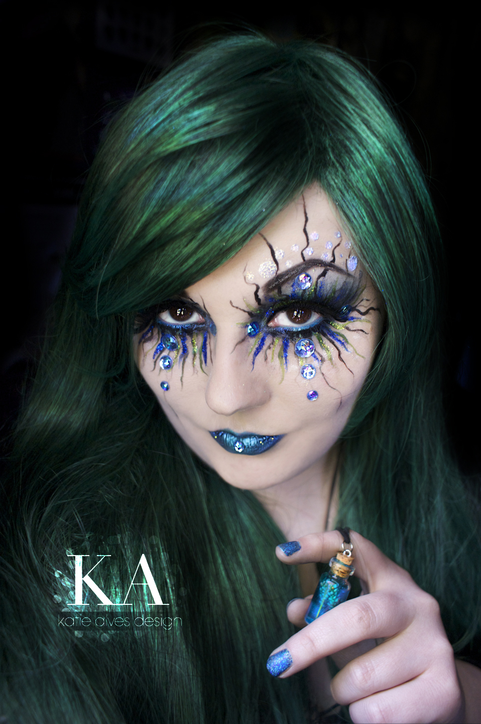 Mermaid Makeup Brushes: Siren / Evil Mermaid Makeup (with Tutorial) By KatieAlves