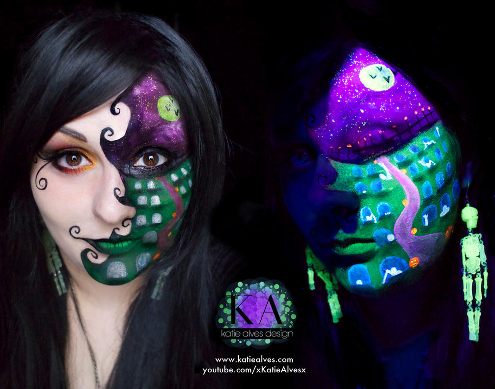 Black Light Halloween Scene with Tutorial by KatieAlves