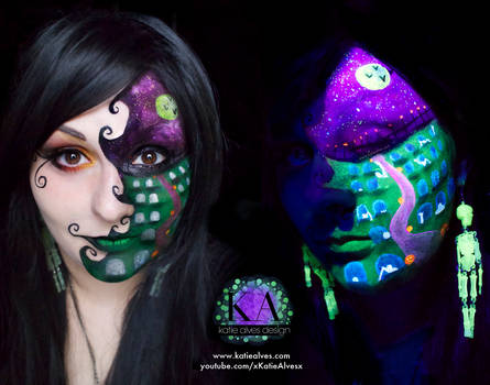 Black Light Halloween Scene with Tutorial by KatieAlves