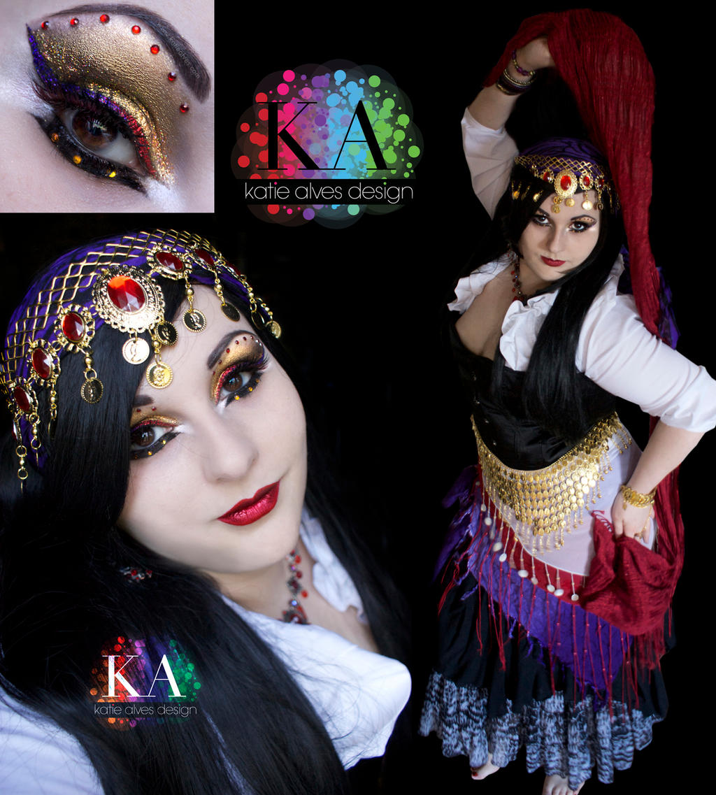 Gypsy Halloween Makeup with Tutorial by KatieAlves on DeviantArt