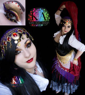 Gypsy Halloween Makeup with Tutorial