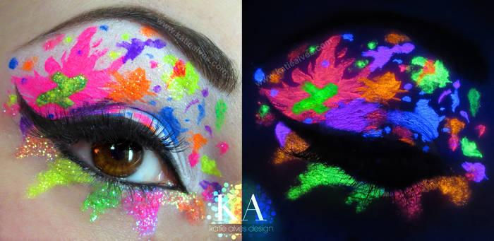 Deviant Art Inspired Black Light Makeup