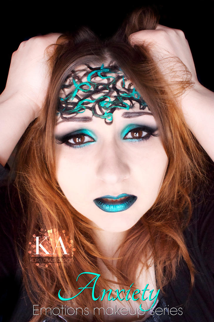 Emotions Makeup Series: Anxiety by KatieAlves
