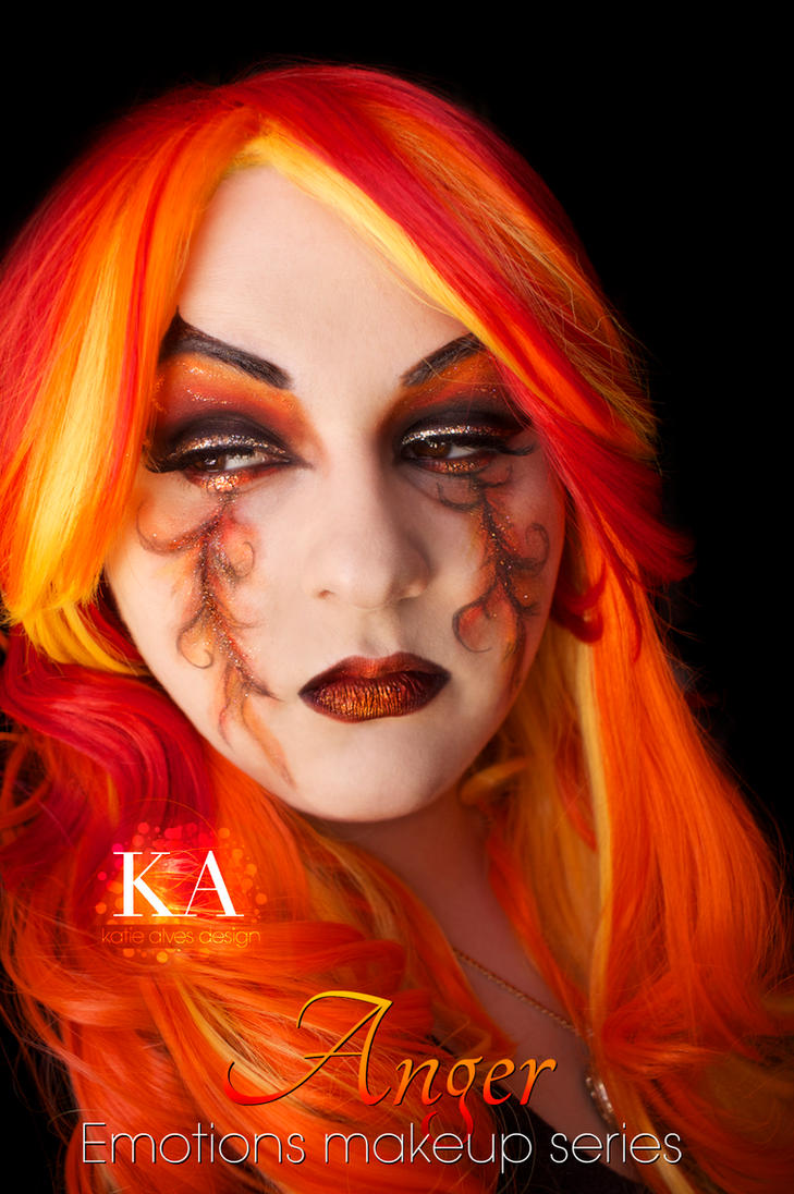 Emotions Makeup Series: Anger by KatieAlves