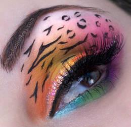 Lisa Frank Inspired Makeup by KatieAlves