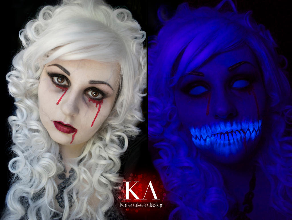 Black Light Ghost Makeup with Tutorial by KatieAlves