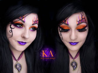 Sorceress Halloween Makeup (with Tutorial) by KatieAlves