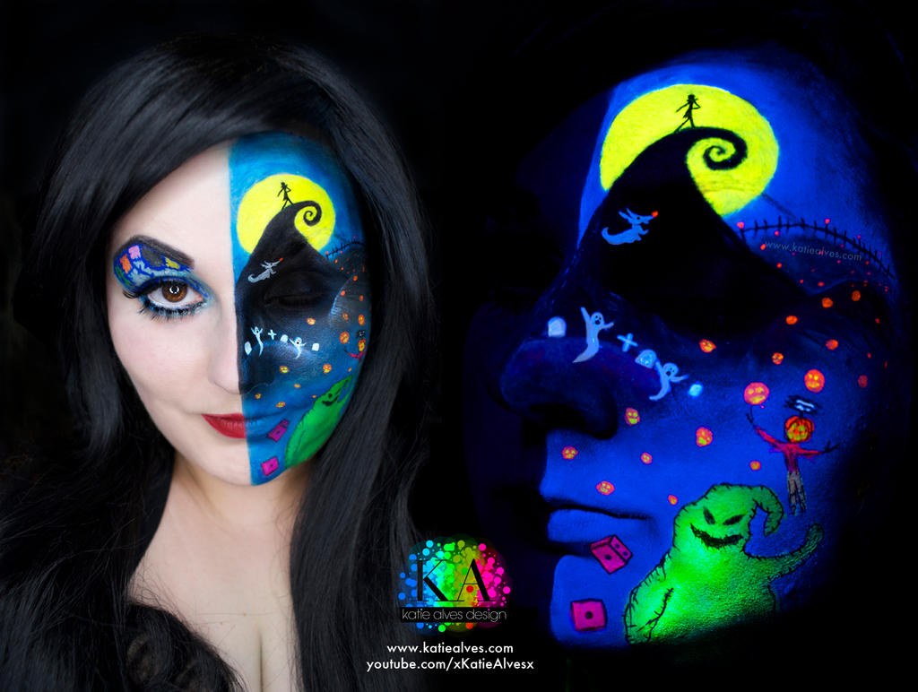 Nightmare Before Christmas Black Light w/ tutorial by KatieAlves