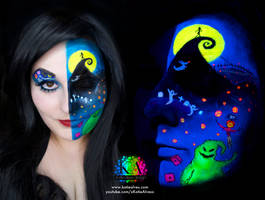 Nightmare Before Christmas Black Light w/ tutorial by KatieAlves
