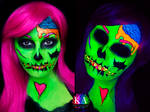 Black Light Pop Art Zombie (with Tutorial)