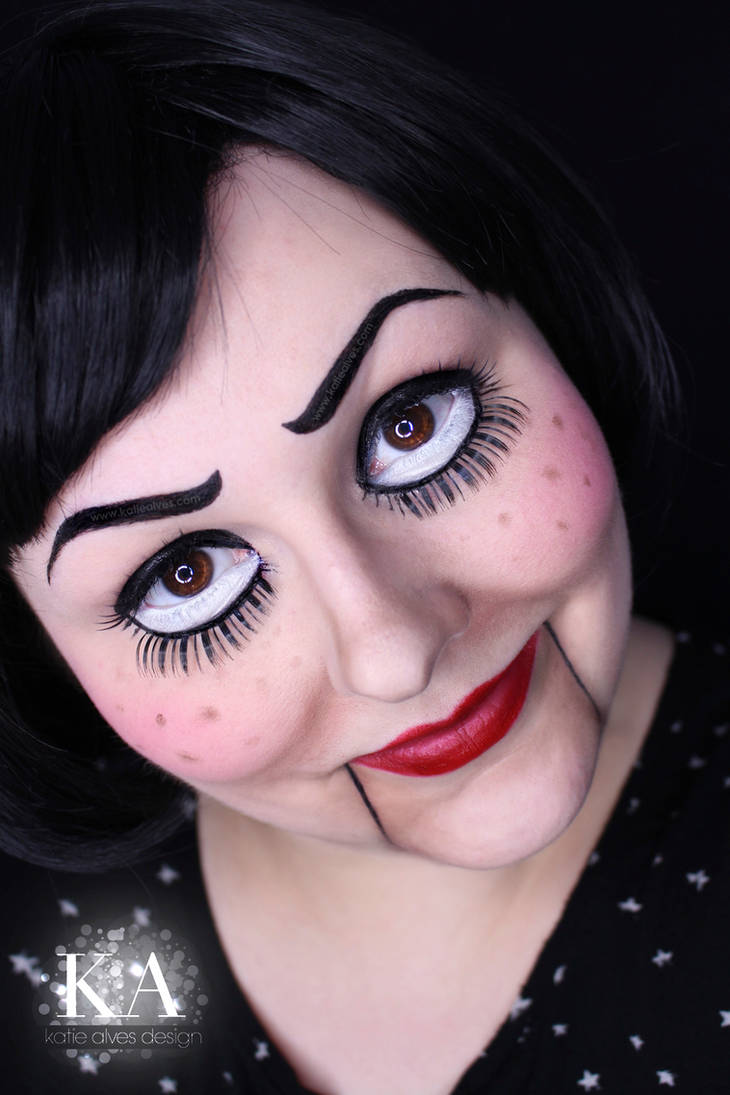 Creepy Marionette Doll Makeup