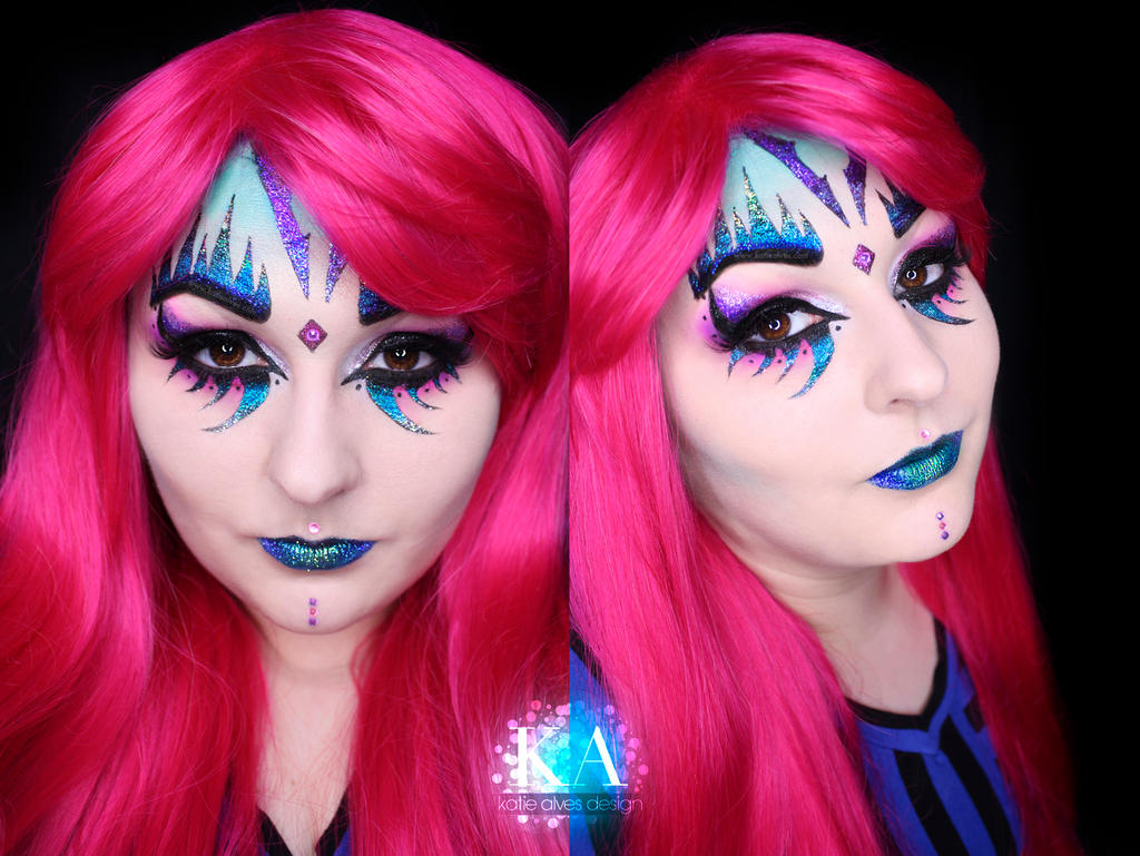 Glitter Monster Halloween Makeup w/ Tutorial by KatieAlves on ...
