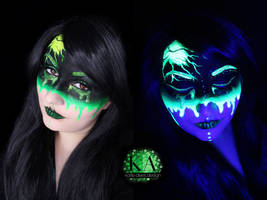Radioactive Black Light Makeup w/ Tutorial by KatieAlves