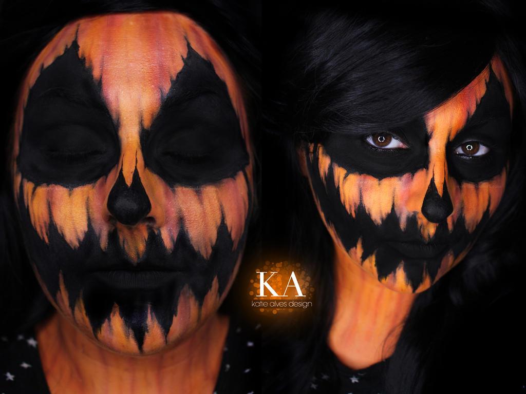 Pumpkin Halloween Makeup w/ Tutorial by KatieAlves on DeviantArt