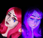 Pop Art Black Light Halloween Makeup w/ Tutorial