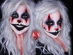 Creepy Clown Halloween Makeup w/ Tutorial