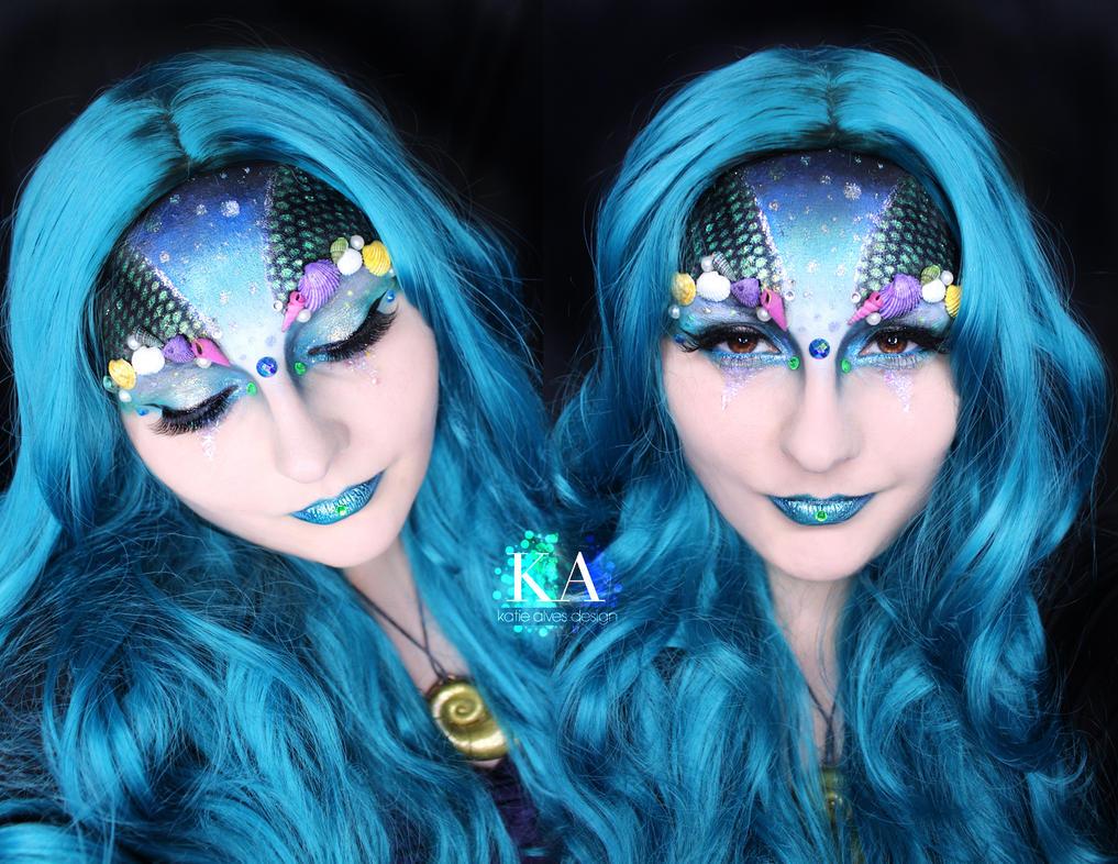 mermaid halloween makeup w tutorial by katiealves