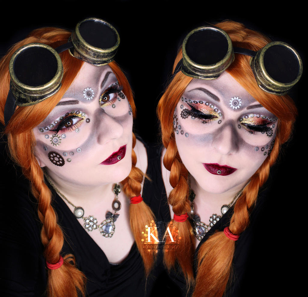 Steampunk makeup w tutorial by katiealves on deviantart for Easy steampunk ideas