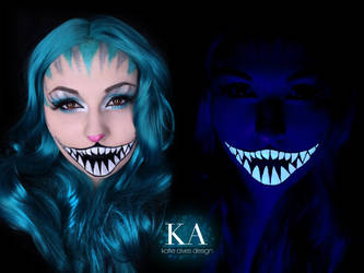 Black Light Cheshire Cat Makeup w/ Tutorial by KatieAlves