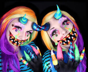 Candy Claws (Candy Monster) Makeup w/ Tutorial by KatieAlves