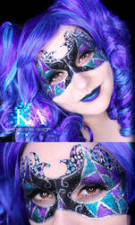 Jester Halloween Makeup w/ Tutorial by KatieAlves