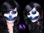 Glitter Skull Halloween Makeup w/ Tutorial