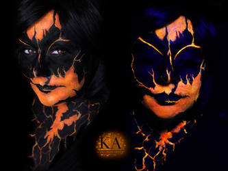 Black Light Lava Demon w/ tutorial by KatieAlves