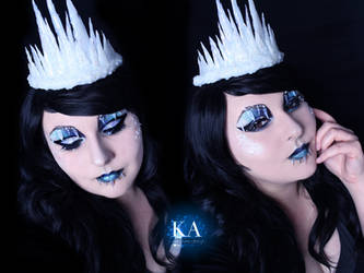Ice Queen Halloween w/Tutorial by KatieAlves
