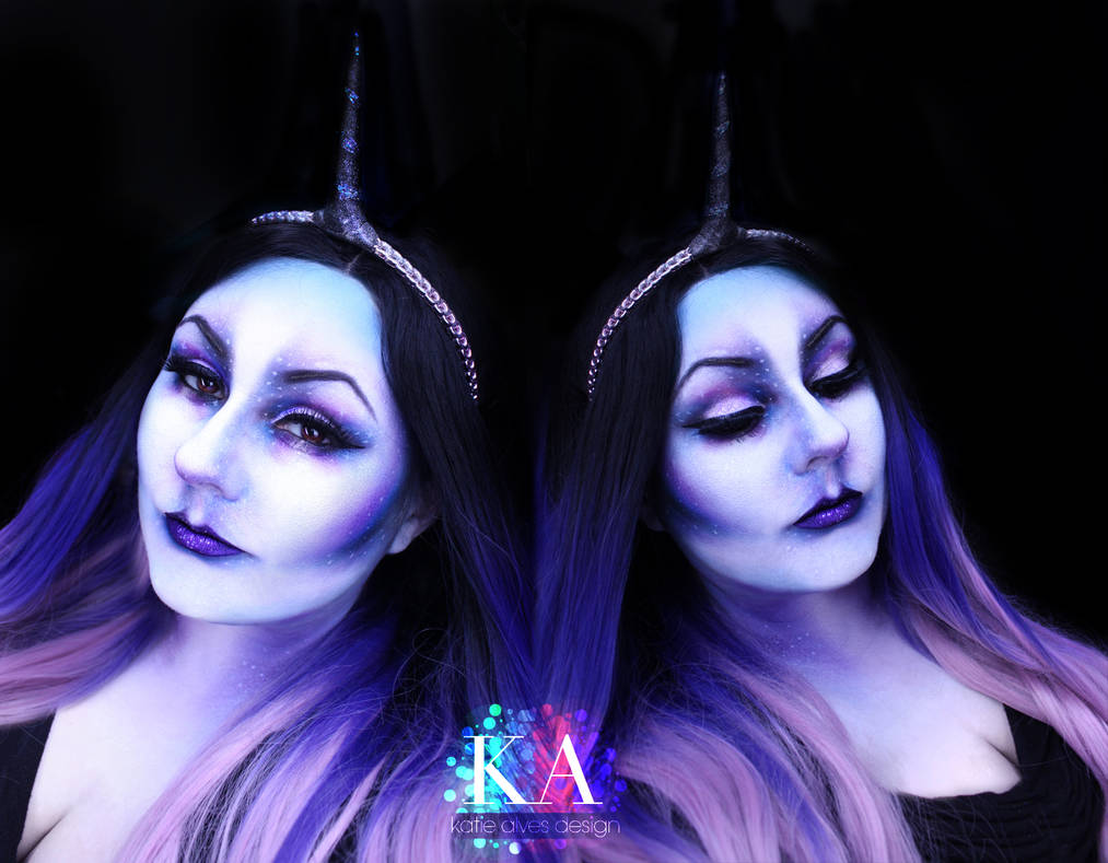 Dark Unicorn Halloween Makeup w/ Tutorial by KatieAlves