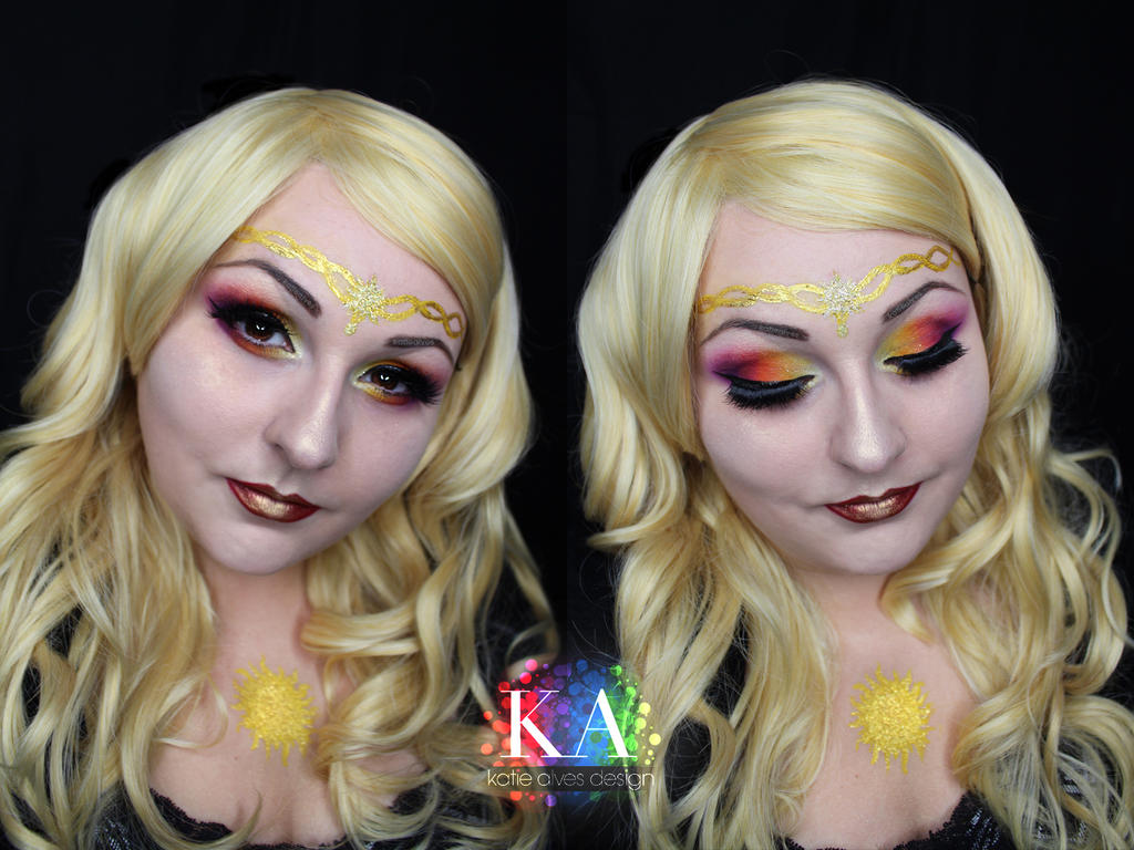 Sun Goddess Halloween Makeup w/ Tutorial by KatieAlves