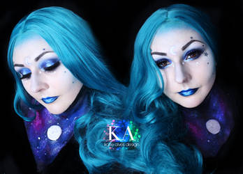 Moon Goddess Halloween Makeup w/ Tutorial by KatieAlves