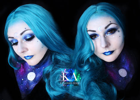 Moon Goddess Halloween Makeup w/ Tutorial