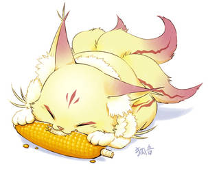Eat corn nom nom by kohn-nz