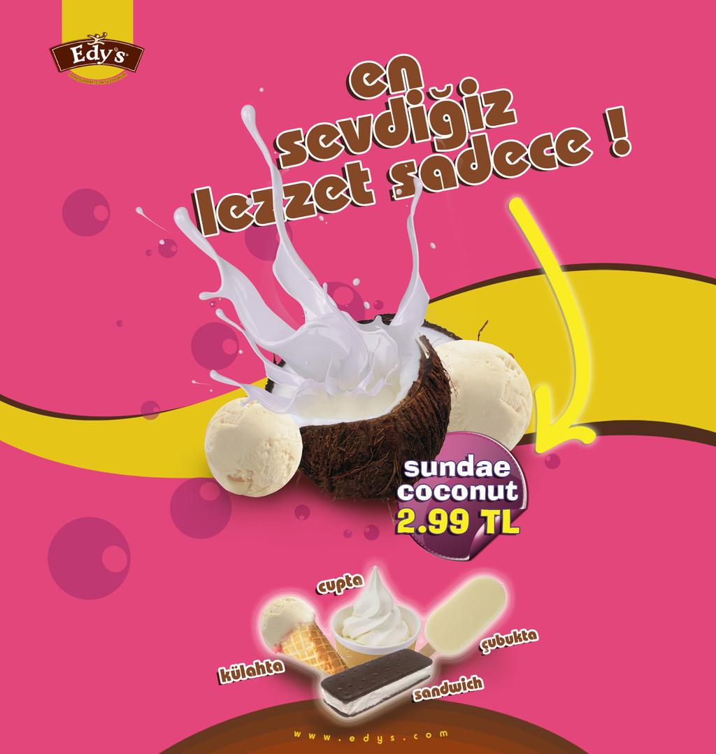 Design poster ice cream - Coconut Ice Cream Poster By Denizbal Coconut Ice Cream Poster By Denizbal