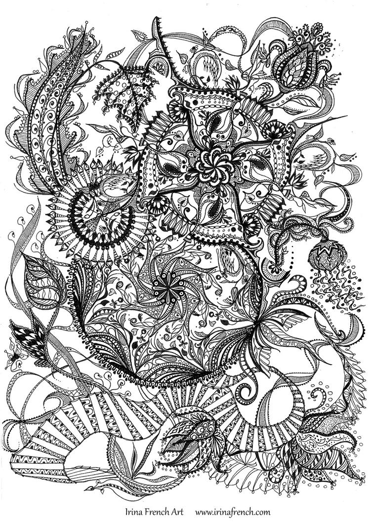 Dragon mandala by ameryn on deviantart for Hard coloring pages of dragons
