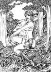 Black and White - Lara Croft