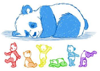 Panda Rainbow by Phobic42