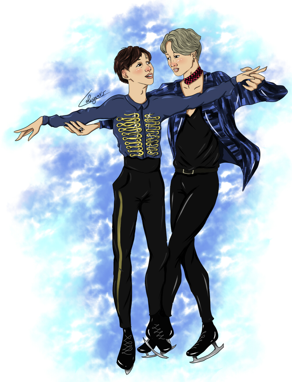 My Favorite Anime Ships as well Jessadoodles deviantart likewise Yuri On Ice together with 23379384 Yuri Ayato together with Yoonmin On Ice 693142362. on yuri ice 09