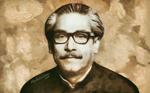 Portrait Of Bangabandhu Sheikh Mujibur Rahman
