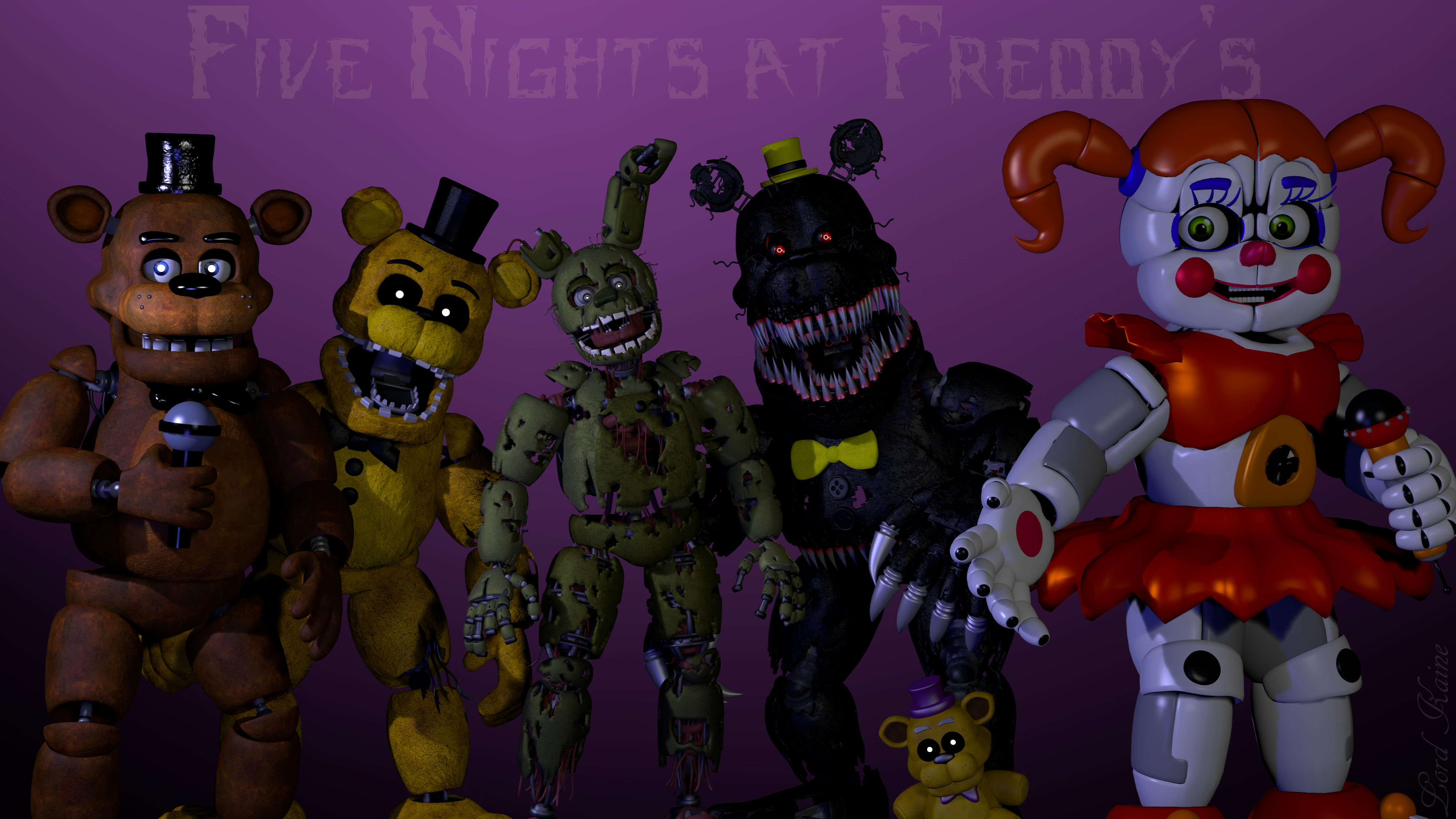 five nights at freddy's wallpaper [remake]lord-kaine on deviantart